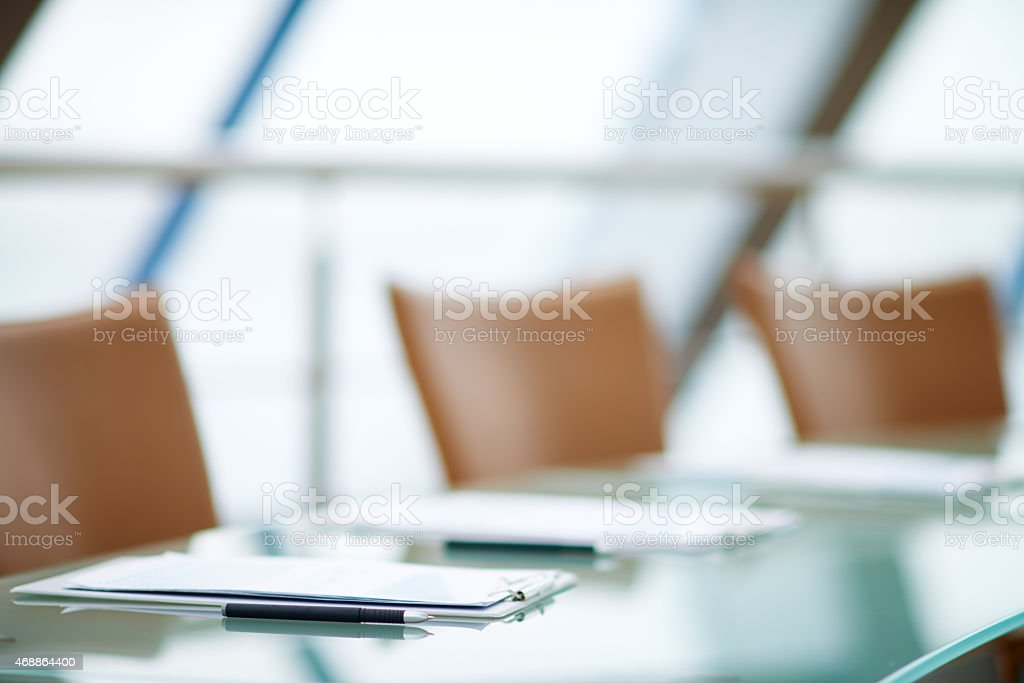 Before a conference stock photo