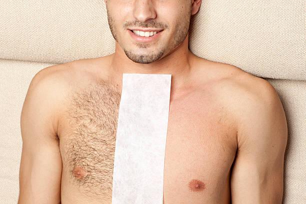 antes de & después de tratamiento con cera tratamiento - pecho torso fotografías e imágenes de stock
