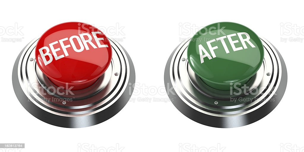 Before and After Buttons royalty-free stock photo