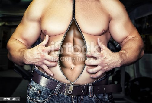 istock Before and after diet and workout 936573520