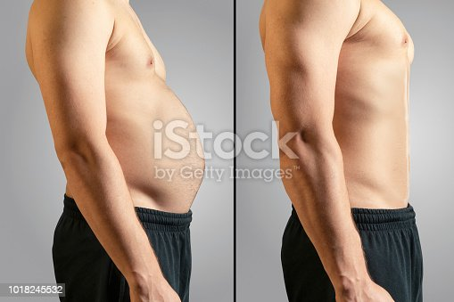 Overweight, Dieting, Change, Abdomen, Men