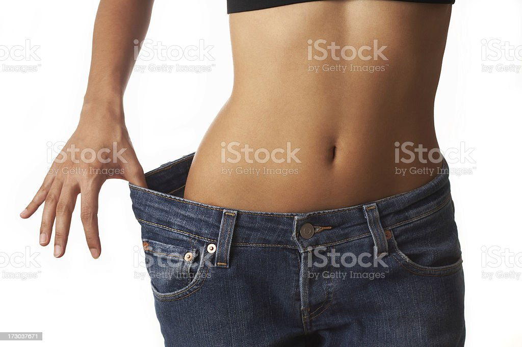 before and after losing weight stock photo