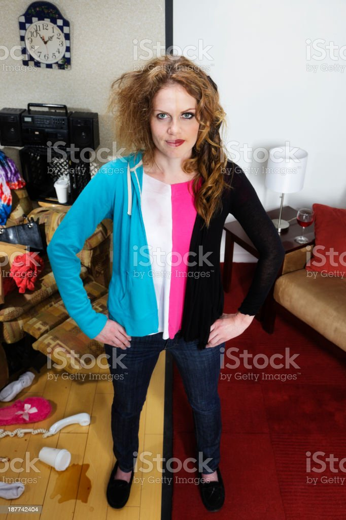 Before and After Woman stock photo