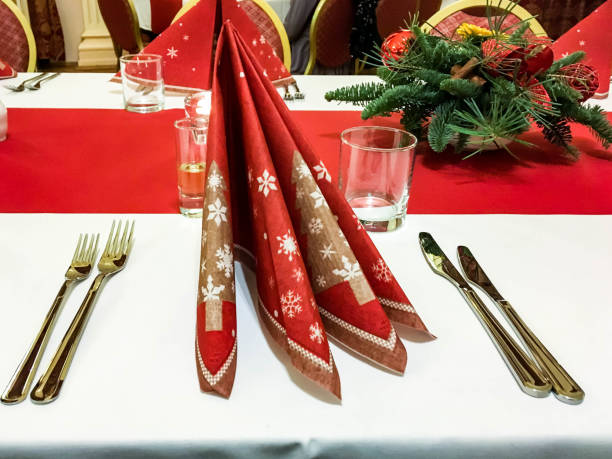 Before Christmas dinner stock photo