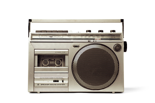 1980s portable music player. With Clipping PATH