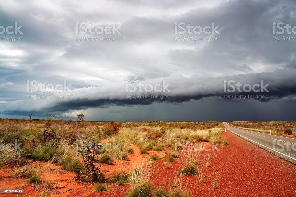 Before storm in Australia stock photo