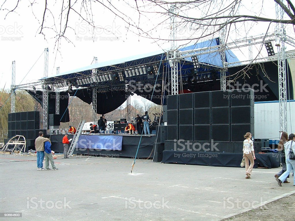 Before the concert royalty-free stock photo