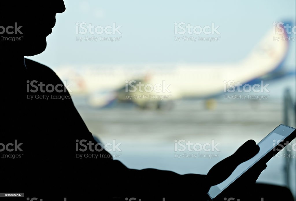Before the flight royalty-free stock photo
