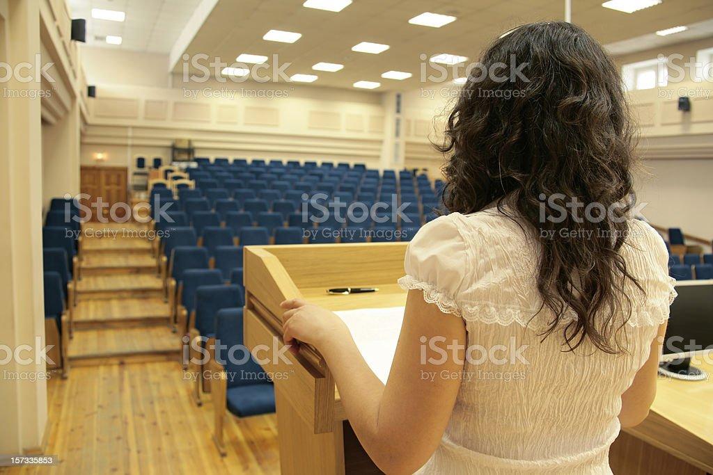 Before the speech stock photo