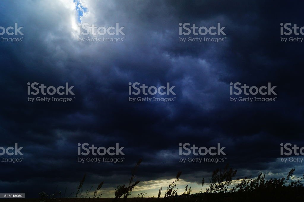 before the storm stock photo