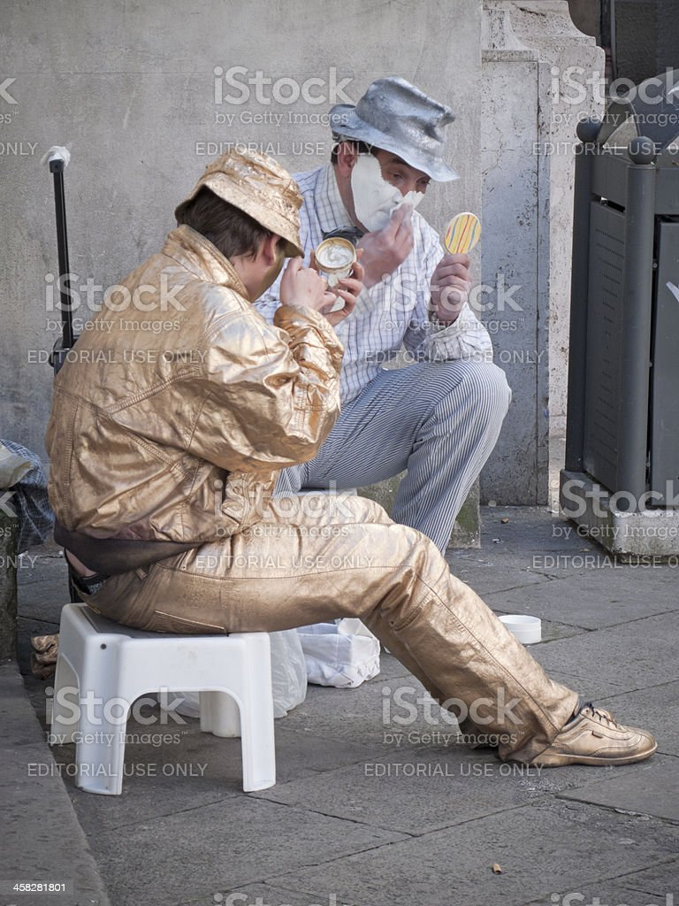Before the street show royalty-free stock photo
