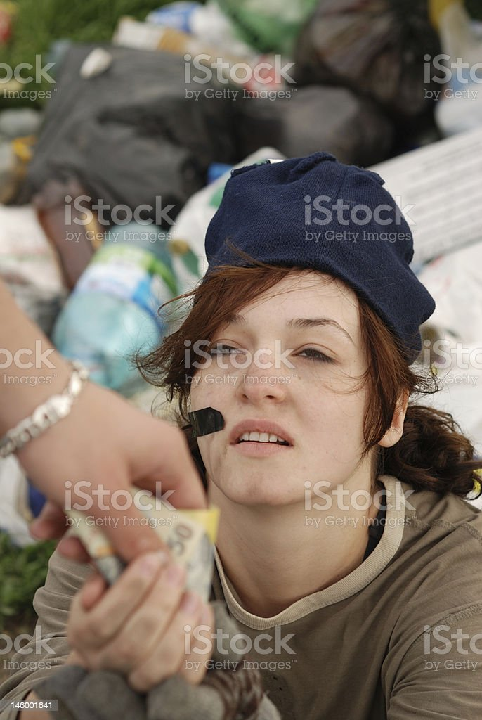 beggar royalty-free stock photo