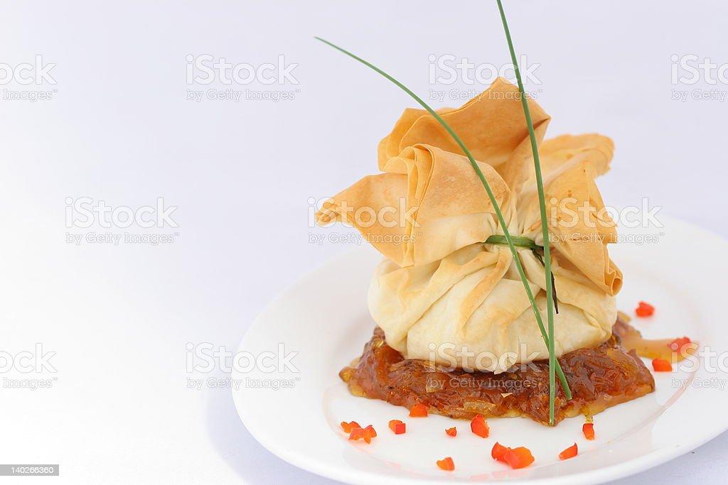 Beggars Purse - Gourmet royalty-free stock photo