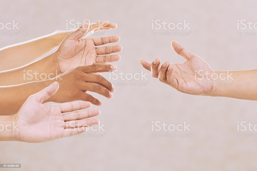Begging for help stock photo