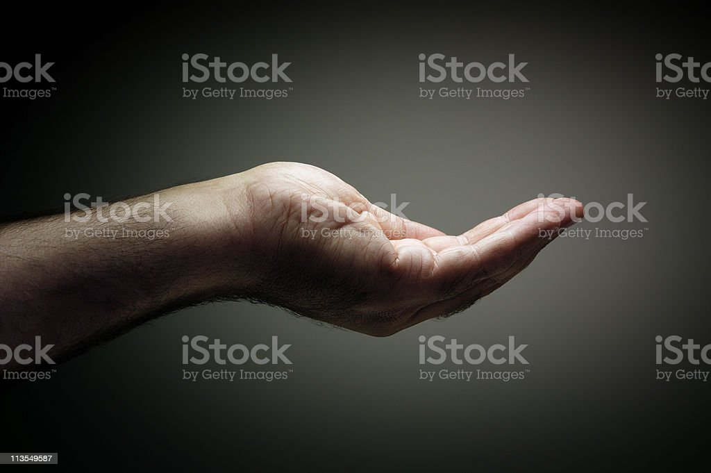 Begging hand royalty-free stock photo