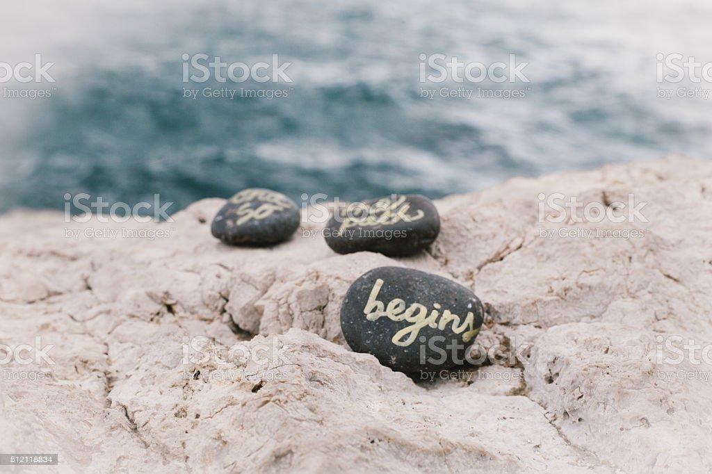Begin New Path stock photo
