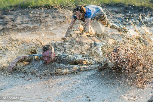 687723318istockphoto Beginning a Mud Run 687723654