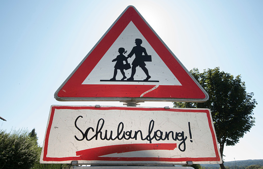 beginning of a new school year sign in german (Schulanfang)