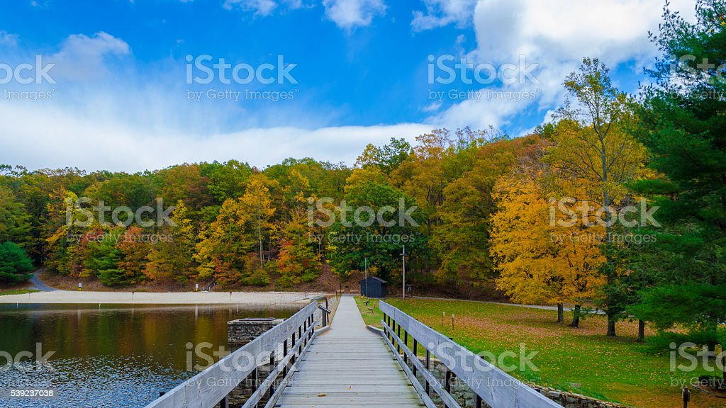 Beginning of the fall season royalty-free stock photo
