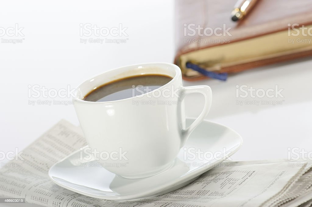 Beginning of the working day royalty-free stock photo