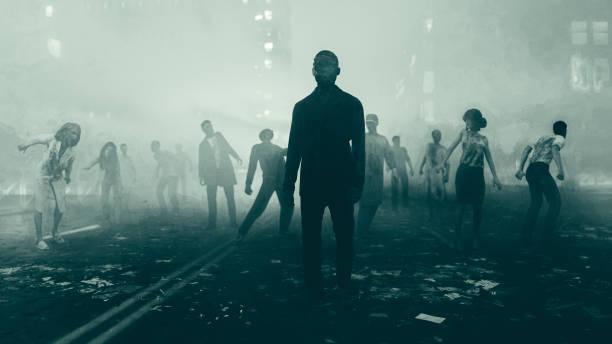 Beginning of the Zombie Apocalypse stock photo