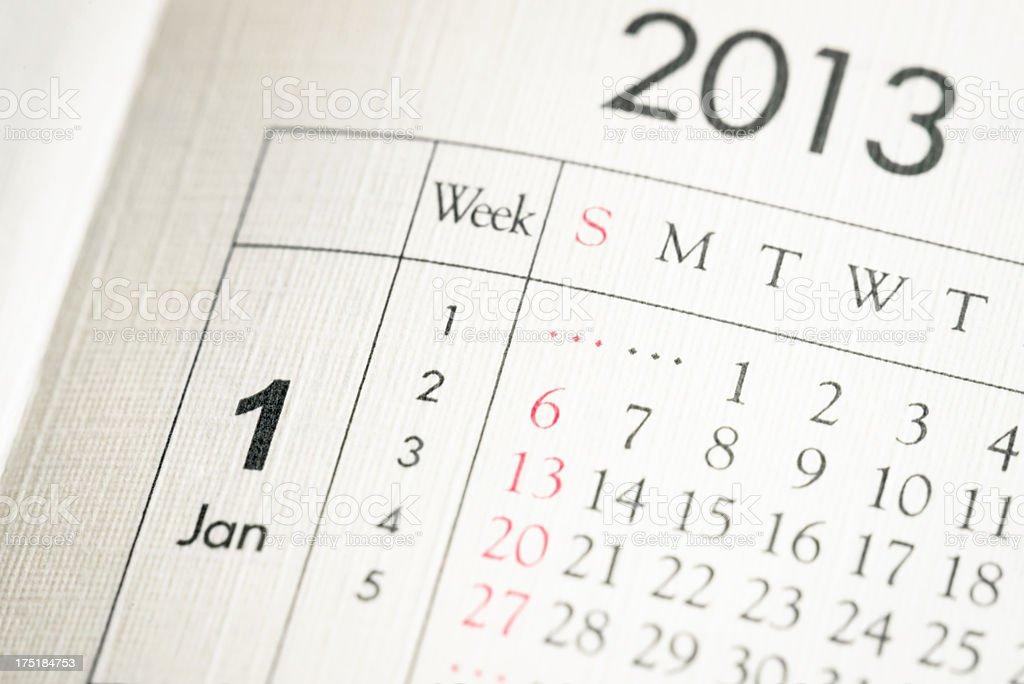 Beginning The Year 2013 stock photo