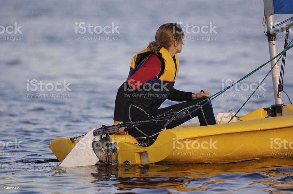 beginning to sail stock photo