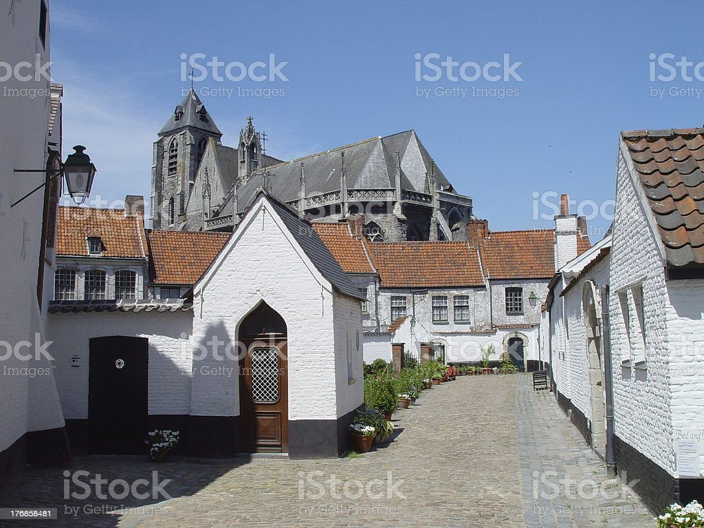 Beguinage 1 stock photo
