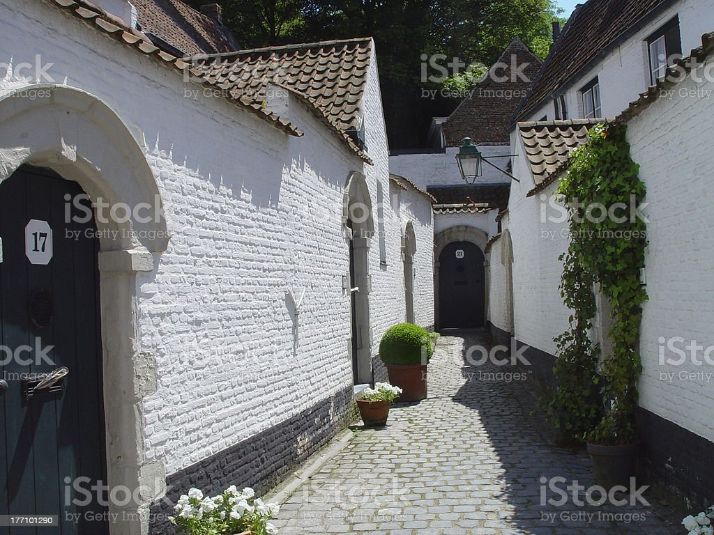 Beguinage 2 stock photo