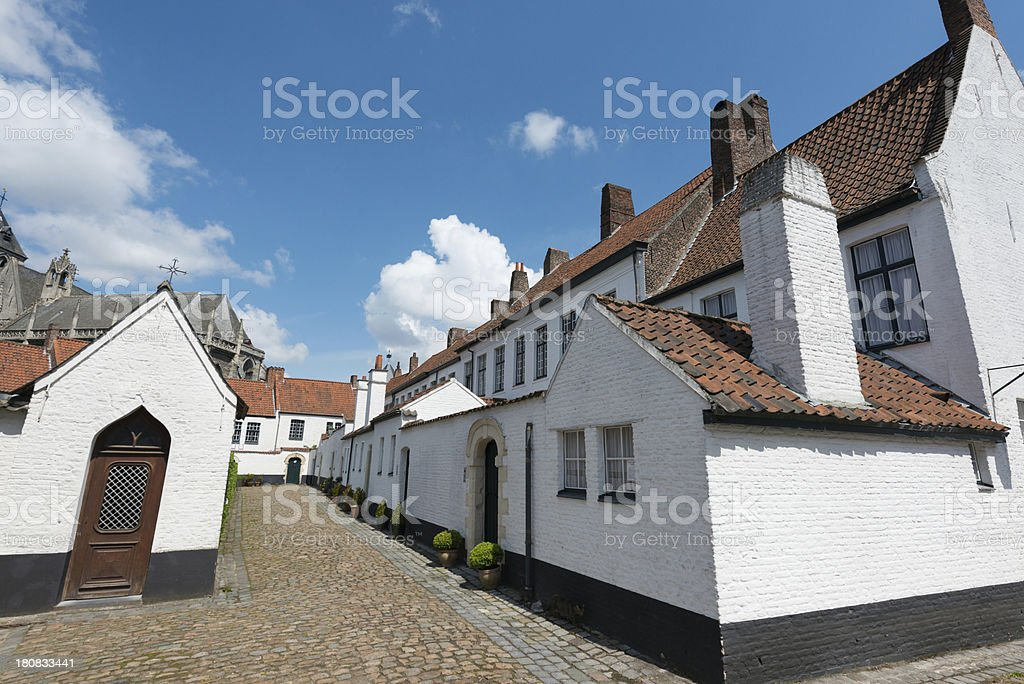 Beguinage stock photo