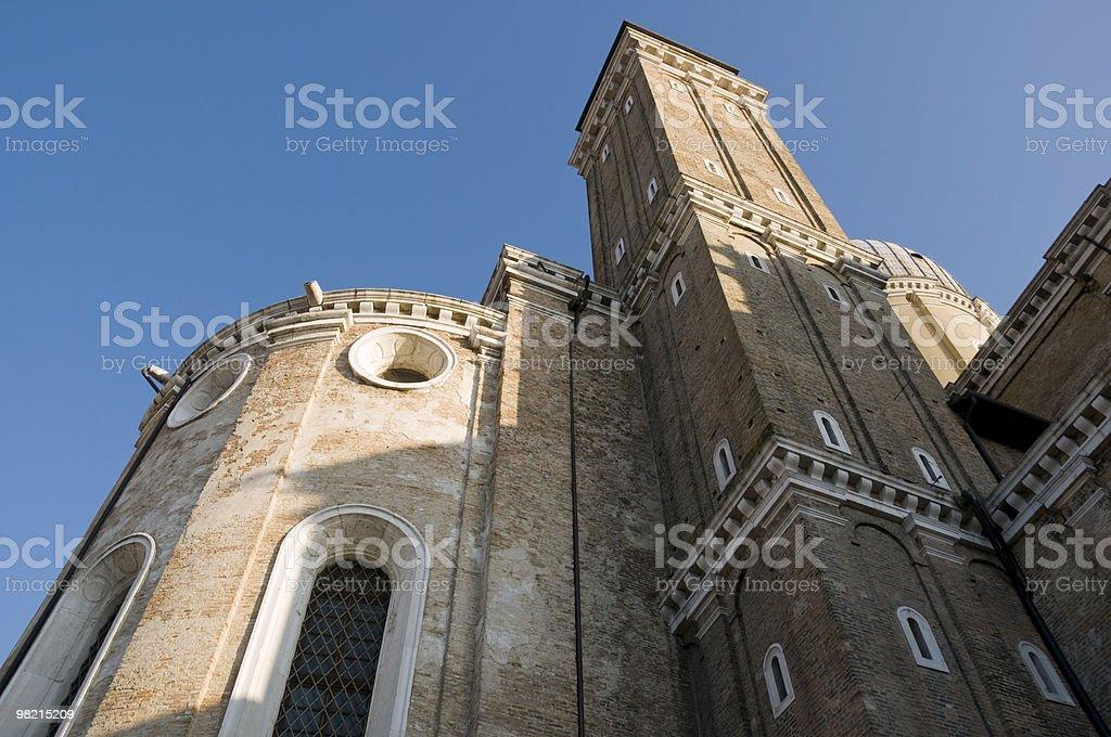 Behind a church royalty-free stock photo