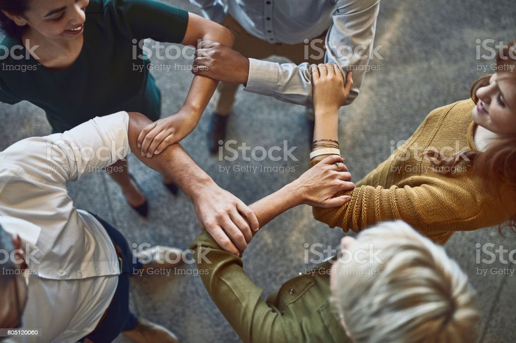 Behind a successful business is a strong team stock photo