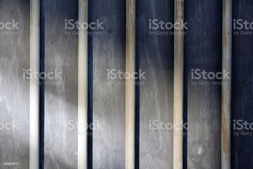 Behind bars stock photo