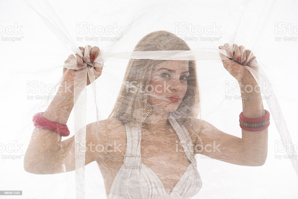 behind curtain royalty-free stock photo