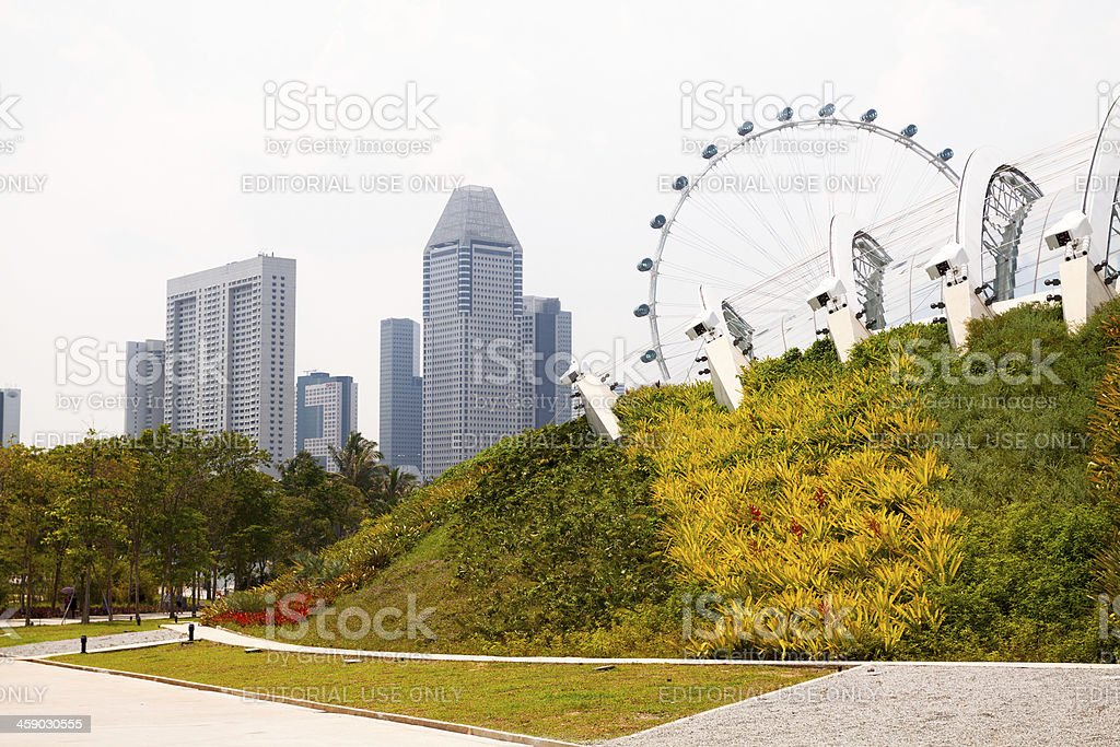 Behind Esplanade royalty-free stock photo