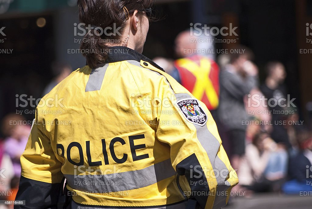 Behind Police royalty-free stock photo