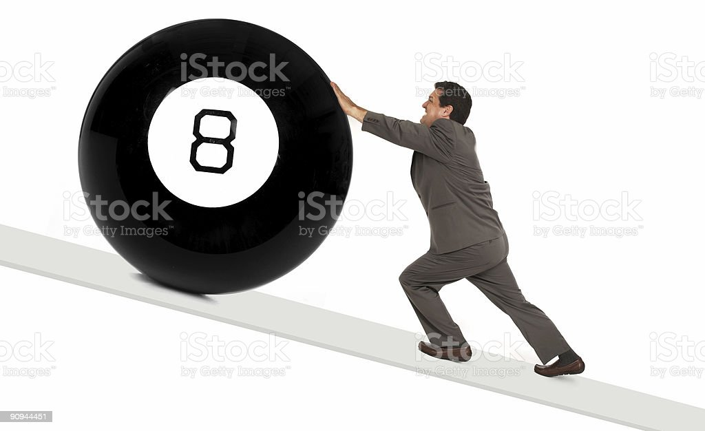 behind the 8 ball stock photo