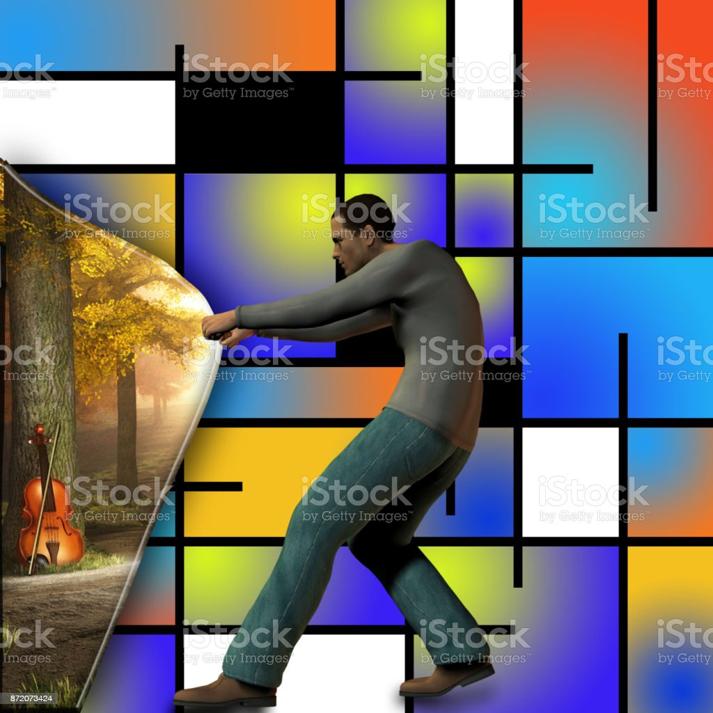 Behind the art stock photo
