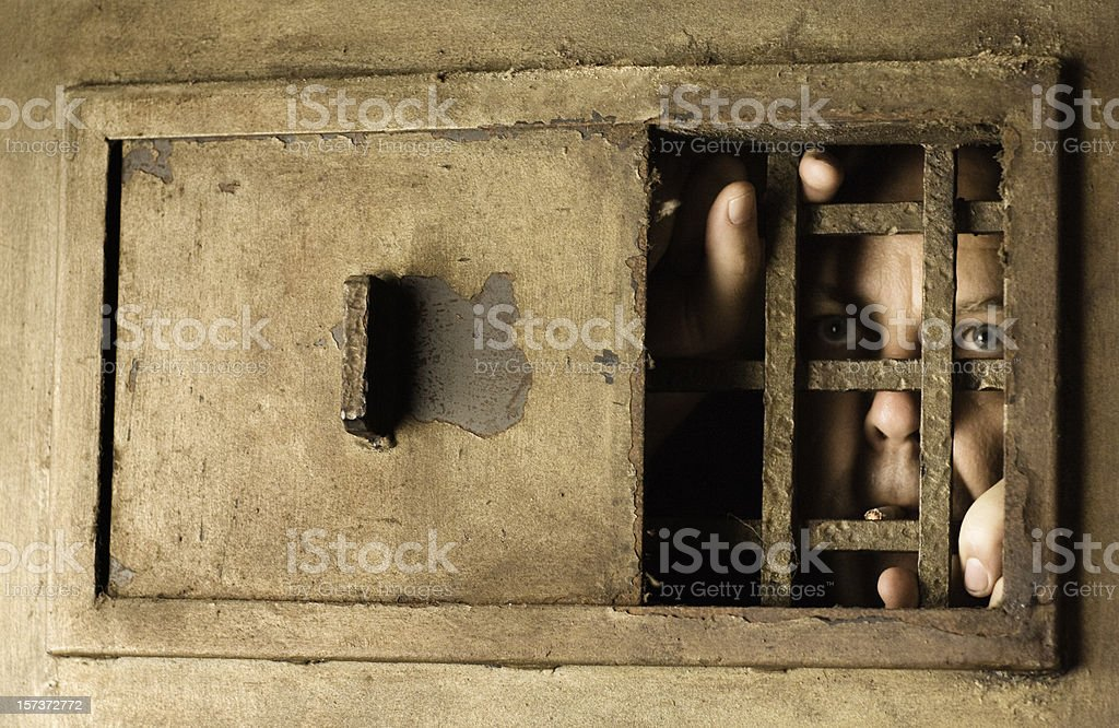 Behind the bars royalty-free stock photo