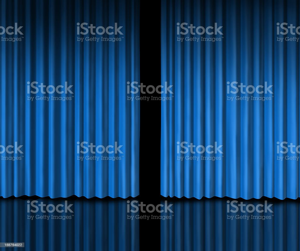 Behind The Blue Curtain stock photo