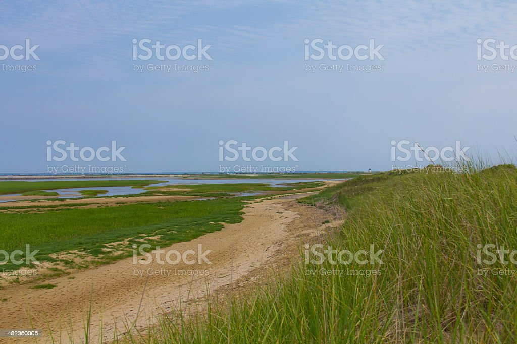 Behind the dunes. stock photo