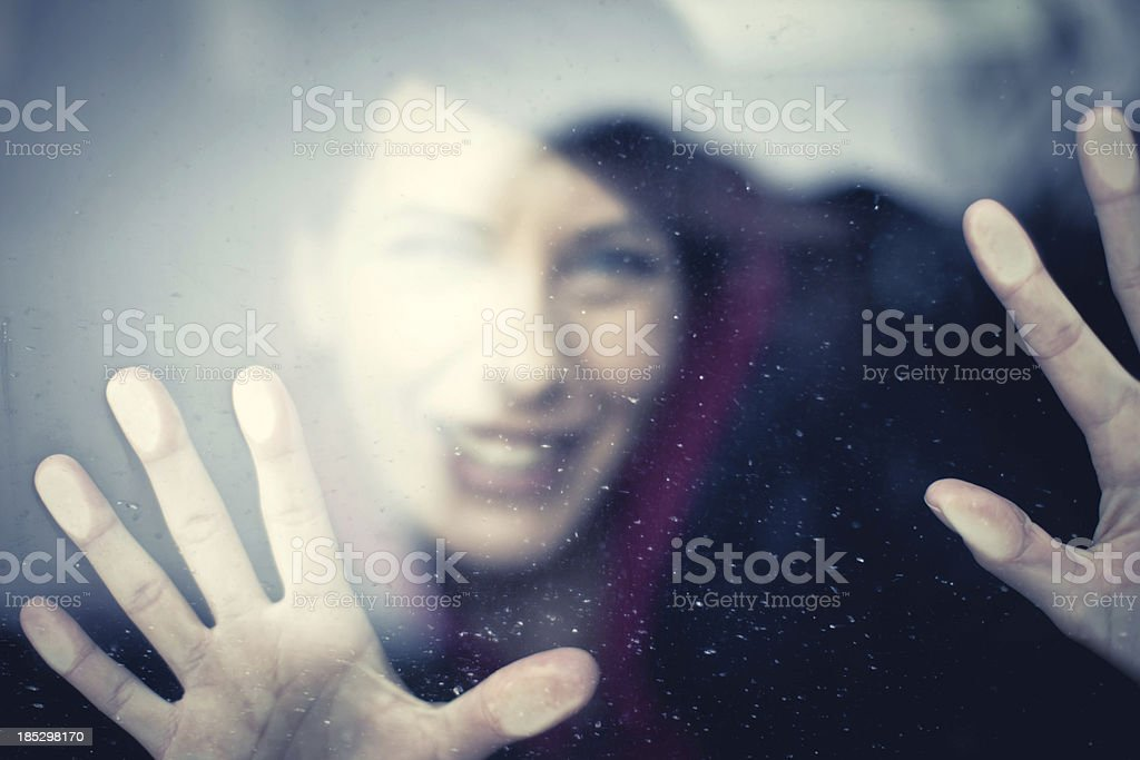 Behind the Glass royalty-free stock photo