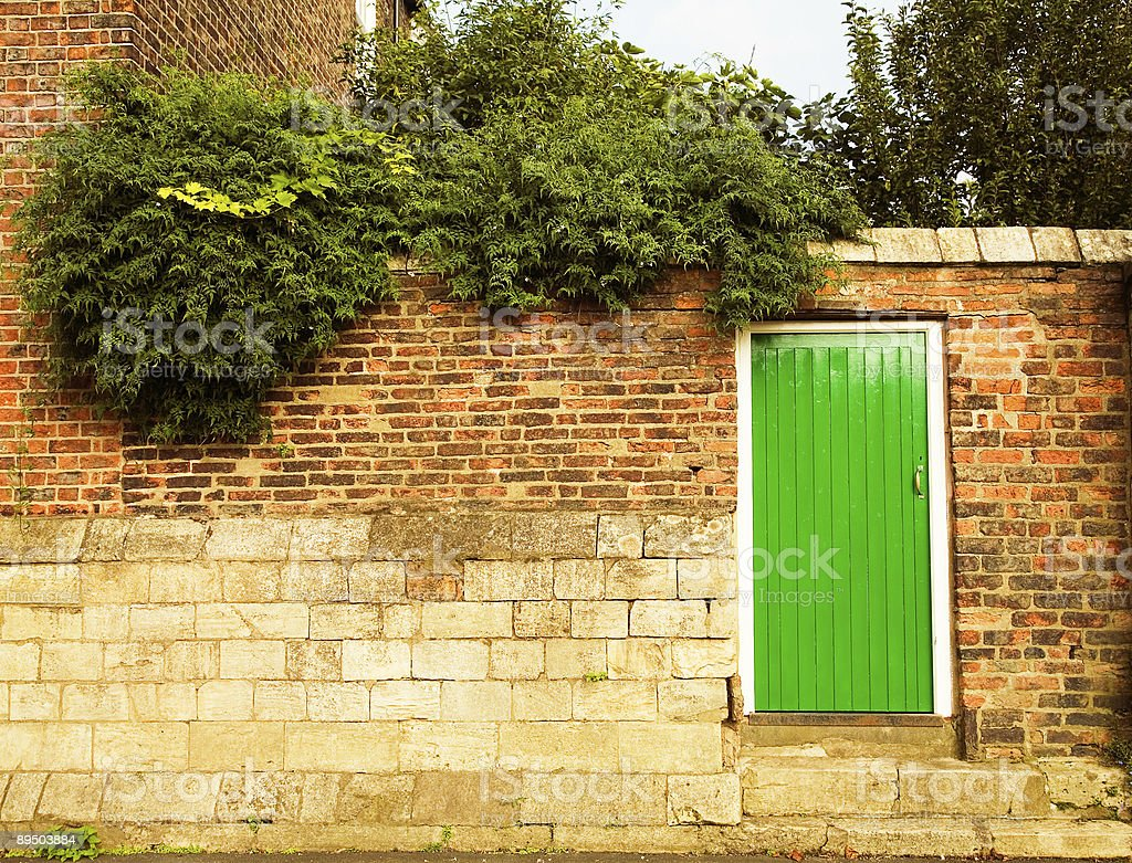 Behind the Green Door stock photo