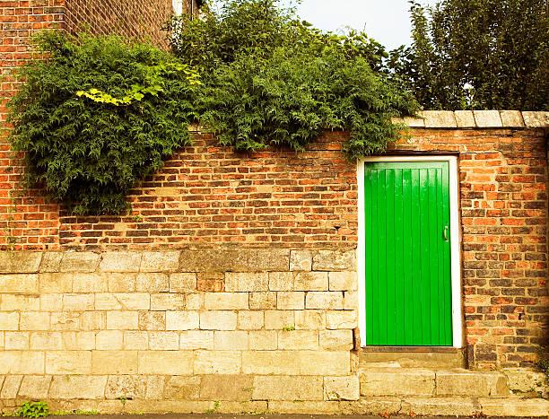 Behind the Green Door stock photo