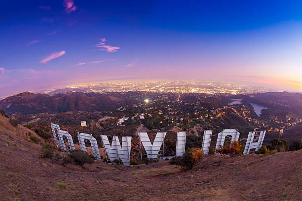behind the hollywood sign - hollywood sign bildbanksfoton och bilder
