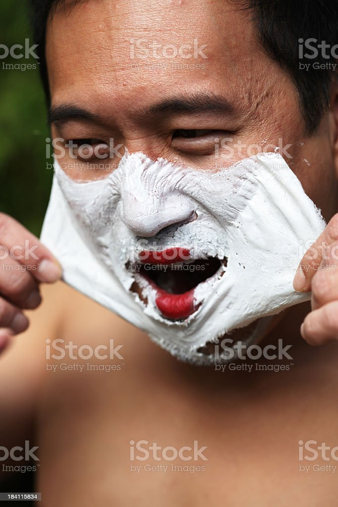 Behind the mask royalty-free stock photo