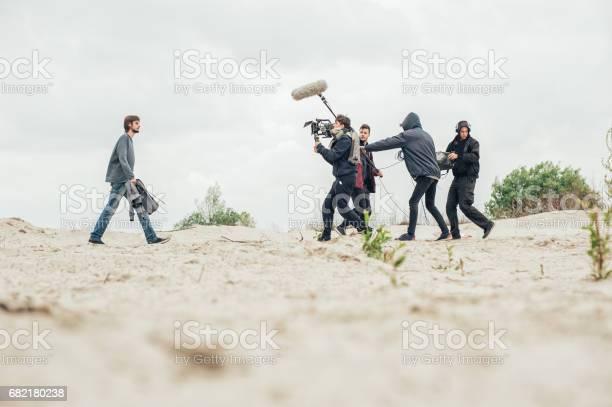 Hinter Den Kulissen Filmteam Filmt Filmszene Im Freien Stockfoto und mehr Bilder von Arbeiten