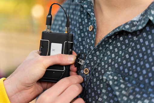Lavalier microphone image by iStockPhoto