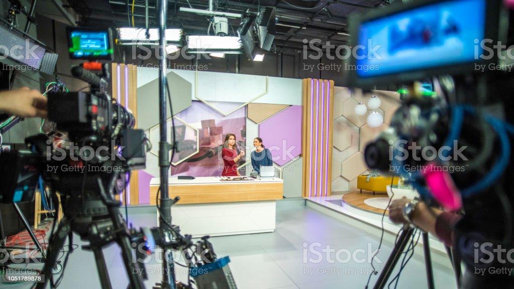 Hinter den Kulissen einer TV-Sendung – Foto
