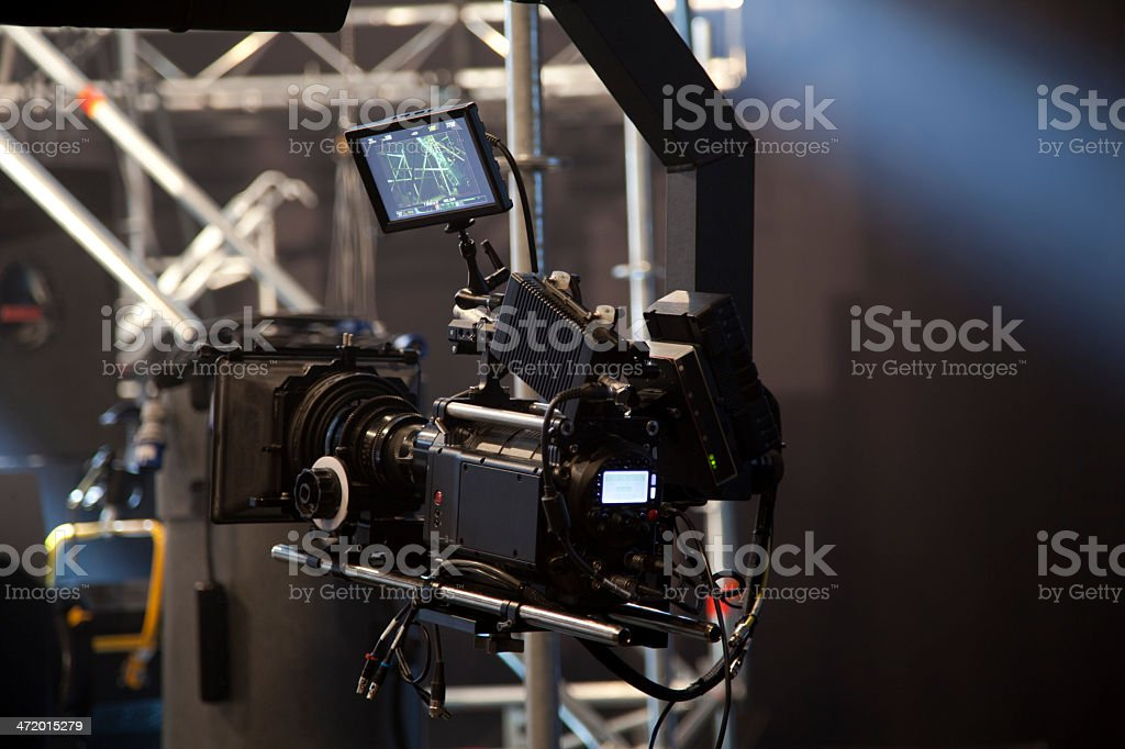 Behind the scenes stock photo